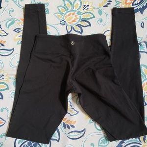 Lululemon black leggings, size 2